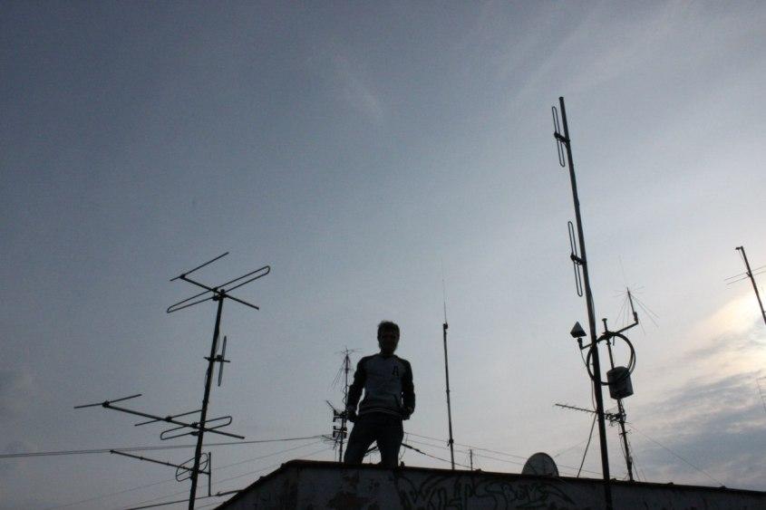 антени і я у присмерку